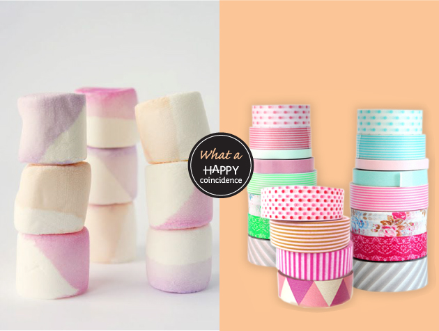 a happy coincidence: marshmallows & washi tape